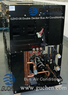 the side of the double deck bus air conditioner, double decker bus HVAC