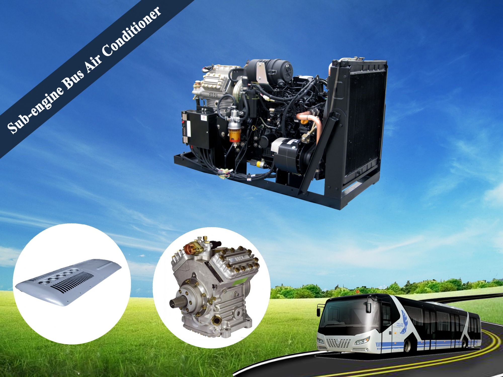 Sub-engine Bus Air Conditioner