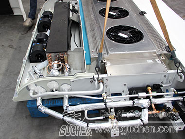 Double return air bus airconditioner units