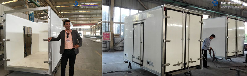 refrigeration units for small trucks and refrigerated truck body in Africa