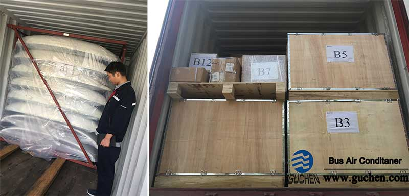 BD-06 Bus Air Conditioners are Packing Well on the Trucks