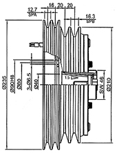 drawings of the clutch