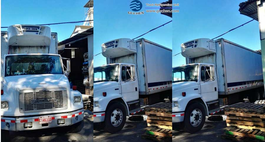 Mr. Daniel sending the truck reefer units picture mounted in his trucks