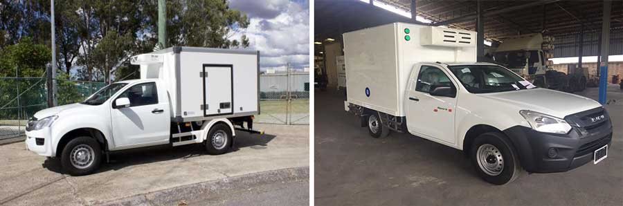Pickup truck reefer units for our Thailand client