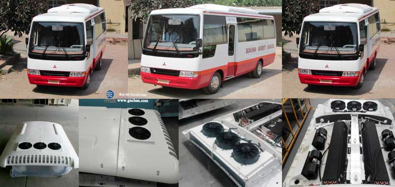 Guchen PD series bus air conditioners application on minibus