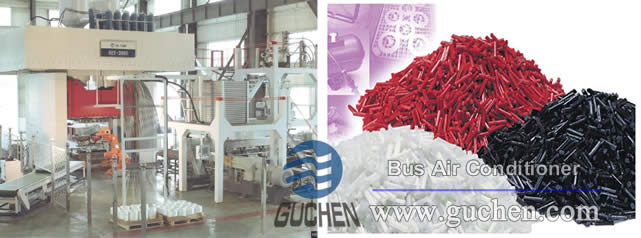 D-LFT molding housing processing of Bus Air Conditioner