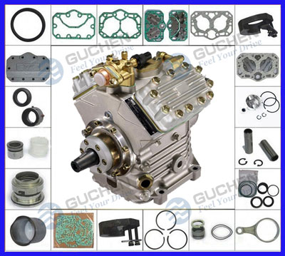 bus air conditioner bock compressor parts