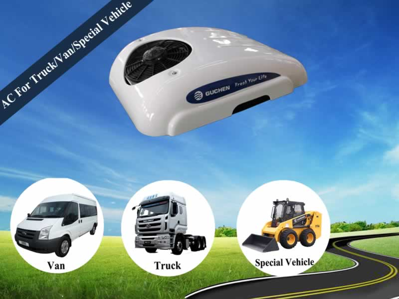 12V 24V DC Powered Air Conditioner for Truck, Van, Special Vehicle