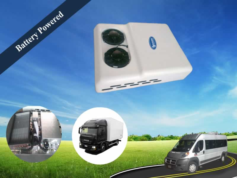 Battery Operated Air Conditioner : Ep b battery powered rooftop air conditioner for van