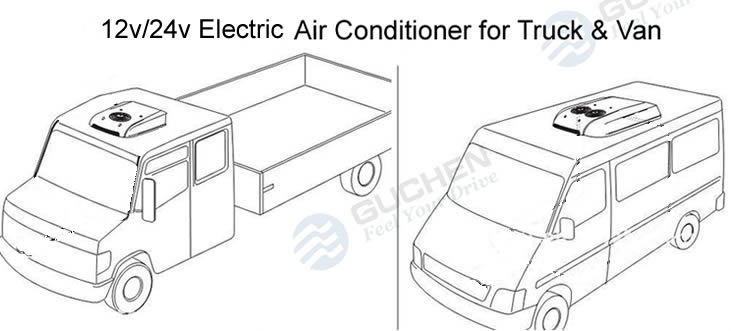 EP-02B Battery Powered Rooftop Air Conditioner For Van