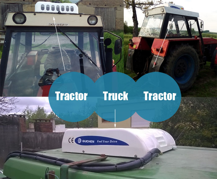 roof mounted air conditioner for tractor