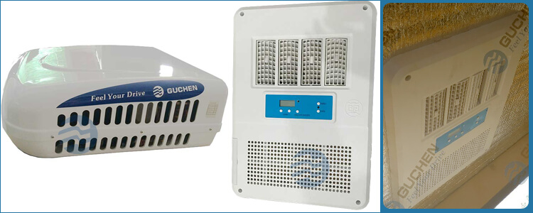 Rooftop mounted DC powered air conditioning system