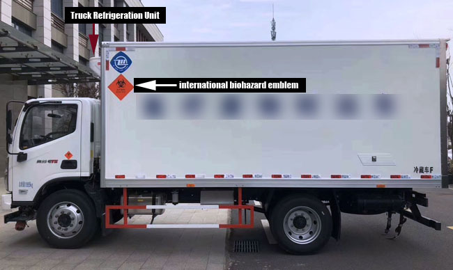 waste transport refrigerated truck