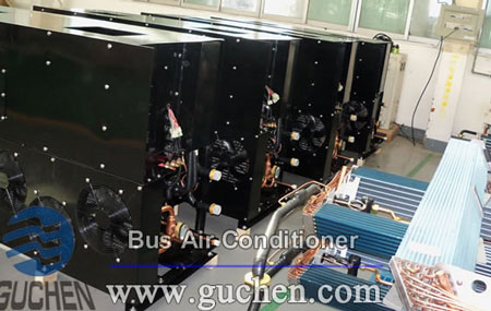 rear-mounted double decker bus air conditioner