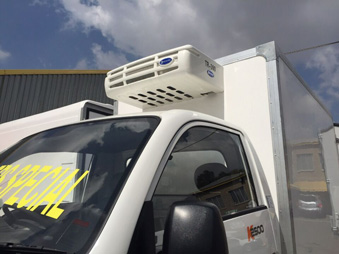 TR-300 truck refrigeration unit installation in truck